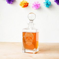 Cathy's Concepts 32-oz. Sugar Skull Square Whiskey Decanter