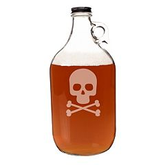 Cathy's Concepts 64-oz. Skull & Crossbones Glass Growler