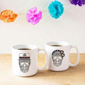 Cathy's Concepts His & Hers Sugar Skull Coffee Mug Set