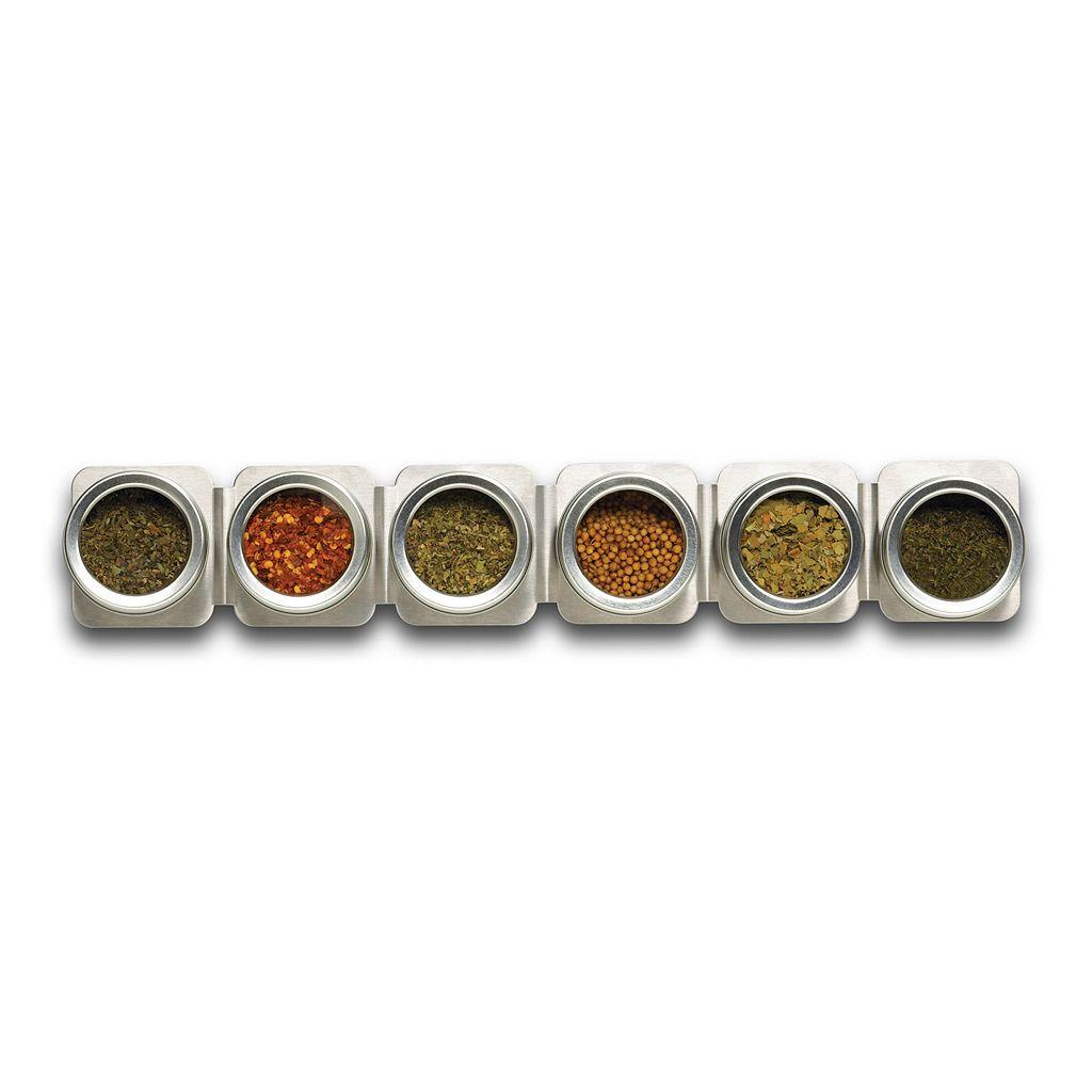 Kamenstein Magnetic 6-Tin Magnetic Spice Strip