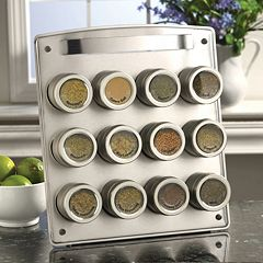 Kamenstein Magnetic 12-Tin Magnetic Spice Rack