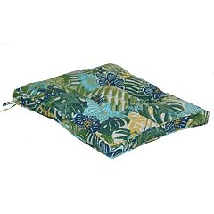 SONOMA Goods for Life™ Floral Palm Indoor Outdoor Reversible Chair Pad