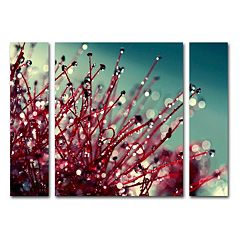 Trademark Fine Art For You And Me Canvas Wall Art 3 pc Set