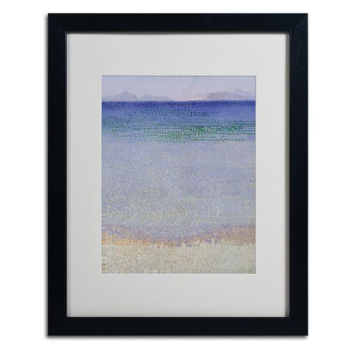 Trademark Fine Art The Iles d'Or 1891-92 Black Framed Wall Art