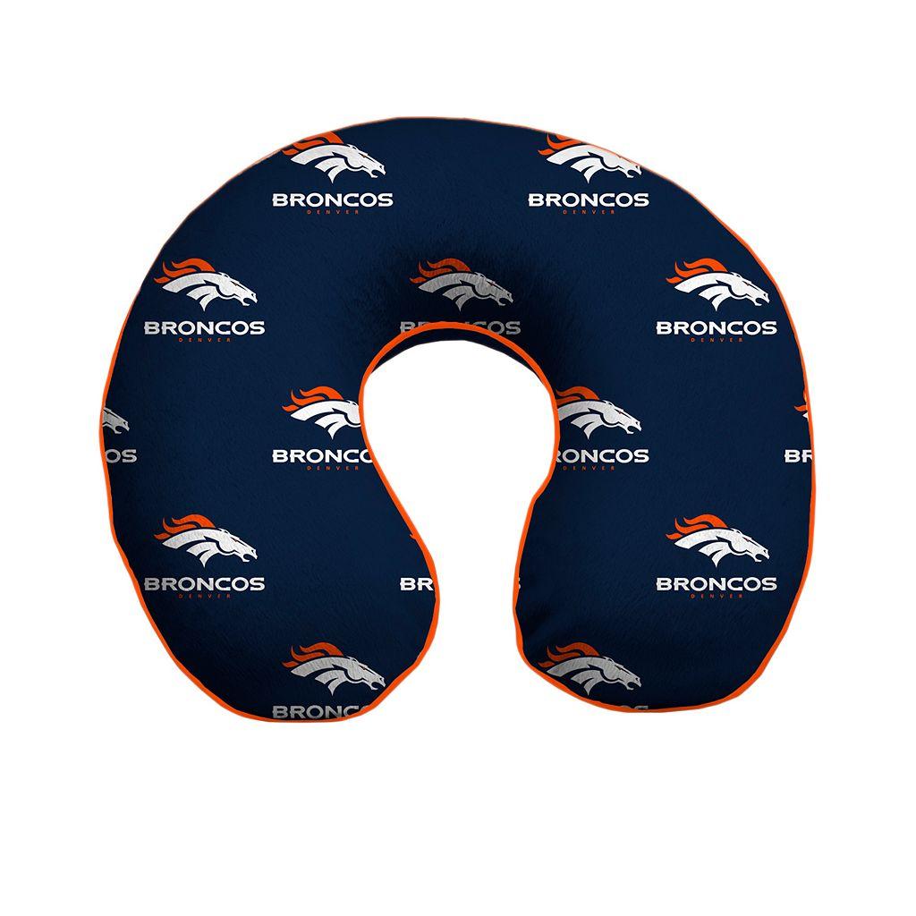 Denver Broncos Memory Foam Travel Pillow