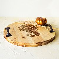 Cathy's Concepts Rustic Wheat Stalk Wood Serving Tray