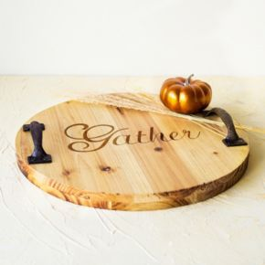 Cathy's Concepts Rustic Gather Wood Serving Tray