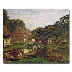 Trademark Fine Art A Farmyard In Normandy, 1863 Canvas Wall Art