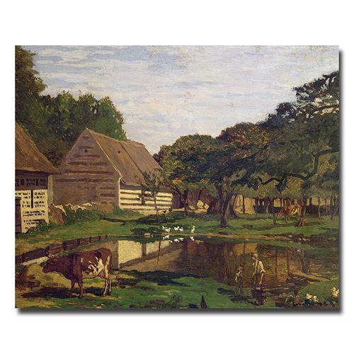 Trademark Fine Art A Farmyard In Normandy, 1863 Canvas Wall Art