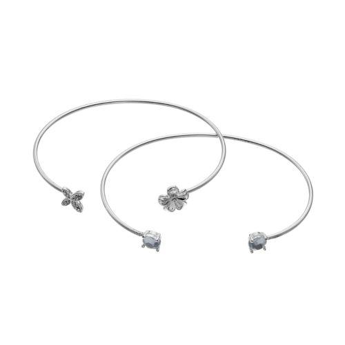LC Lauren Conrad Flower & Butterfly Cuff Bracelet Set