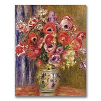 Trademark Fine Art Vase Of Tulips And Anemones Canvas Wall Art