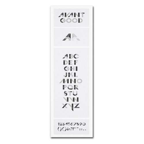 "Trademark Fine Art ""Avant Good"" Font Poster Canvas Wall Art"