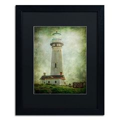 Trademark Fine Art Pigeon Point Light Station Framed Wall Art