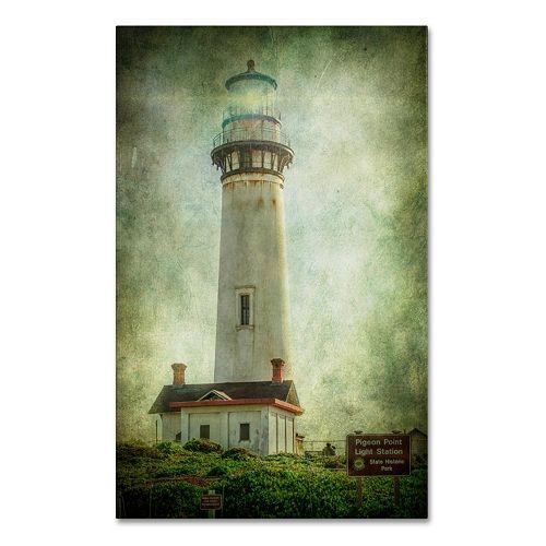 Trademark Fine Art Pigeon Point Light Station Canvas Wall Art