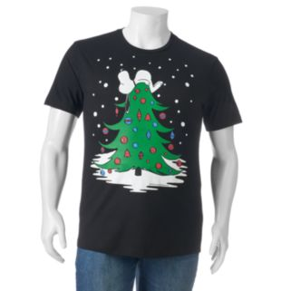 Big & Tall Peanuts Snoopy Christmas Tree Tee