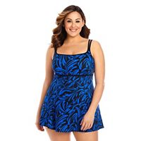 Plus Size Great Lengths Hip Minimizer Swimdress