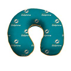 Miami Dolphins Memory Foam Travel Pillow