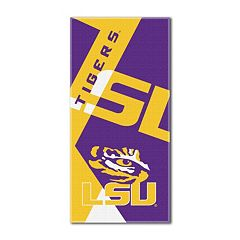 LSU Tigers Puzzle Oversize Beach Towel by Northwest