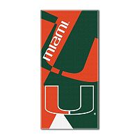 Miami Hurricanes Puzzle Oversize Beach Towel by Northwest