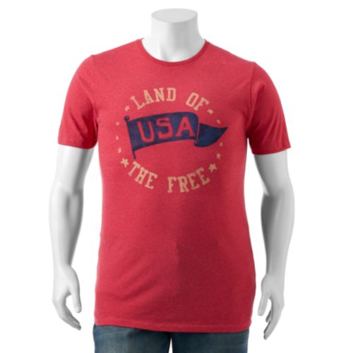 "Big & Tall SONOMA Goods for Life™ USA ""Land of The Free"" Tee"