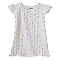 Girls 4-10 Jumping Beans® Print Flutter Sleeves Tee