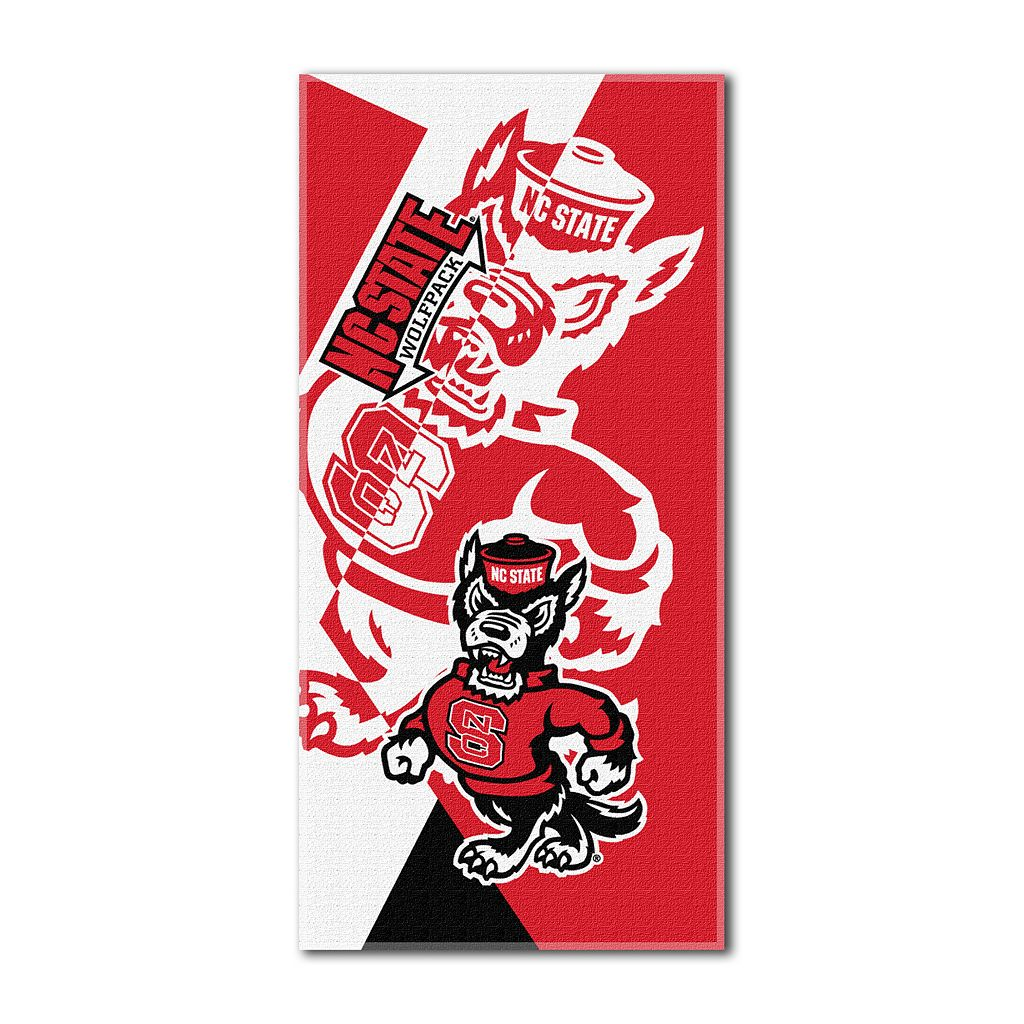 North Carolina State Wolfpack Puzzle Oversize Beach Towel by Northwest