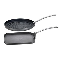 Circulon Genesis 2-pc. Hard-Anodized Nonstick Grill Pan Set