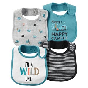 Baby Boy Carter's 4-pk. Woodland & Striped Bibs