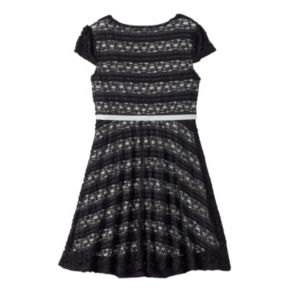 Girls 7-16 & Plus Size Lilt Ribbon Lace Skater Dress