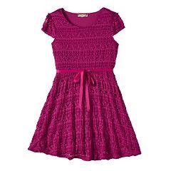 Girls 7-16 & Plus Size Lilt Ribbon Lace Skater Dress