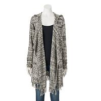 Women's SONOMA Goods for Life™ Hooded Marled Cardigan