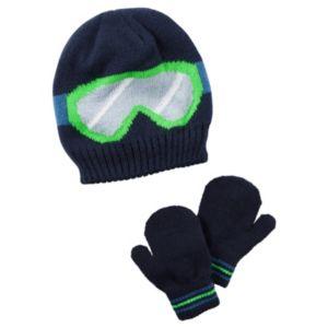 Baby Boy Carter's Ski Goggles Beanie Hat & Mittens Set