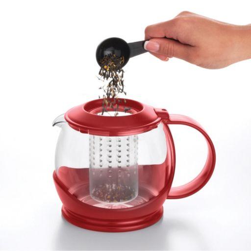 "BonJour 42-oz. Tea ""Prosperity"" Borosilicate Glass Teapot with Plastic Frame"