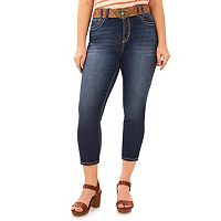 Juniors' Plus Size Wallflower Legendary Capri Jeans