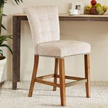 Madison Park Weldon Button Tufted Counter Stool
