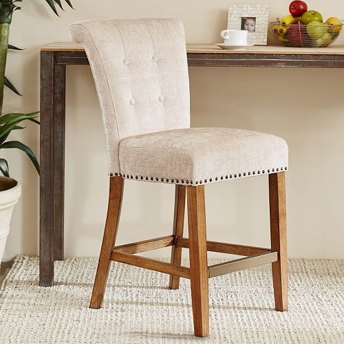 Cool Madison Park Weldon Button Tufted Counter Stool Unemploymentrelief Wooden Chair Designs For Living Room Unemploymentrelieforg