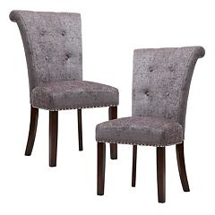 Madison Park Weldon Button Tufted Dining Chair 2 pc Set
