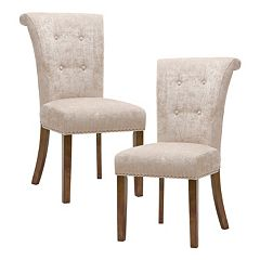 Madison Park Weldon Button Tufted Dining Chair 2-piece Set