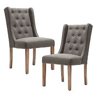 Madison Park Aida Button Tufted Dining Chair 2 pc Set