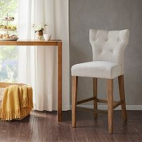 Madison Park Hayes Button Tufted Counter Stool