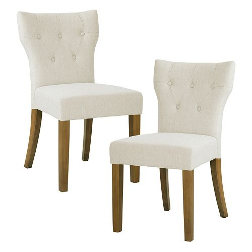 Madison Park Hayes Button Tufted Dining Chair 2-piece Set