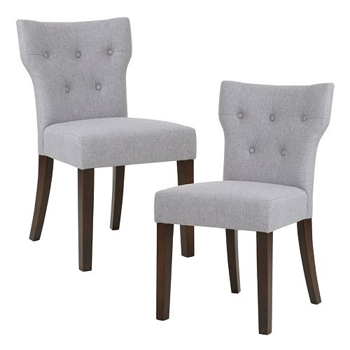 Madison Park Hayes Button Tufted Dining Chair 2 Piece Set