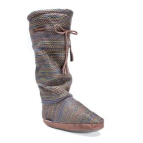 MUK LUKS Women's Grace Marled Tall Boot Slippers
