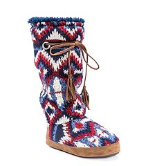 MUK LUKS Women's Grace Tall Boot Slippers