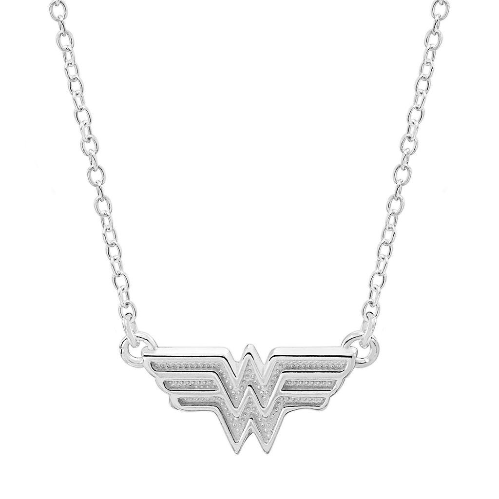 DC Comics Sterling Silver Wonder Woman Necklace