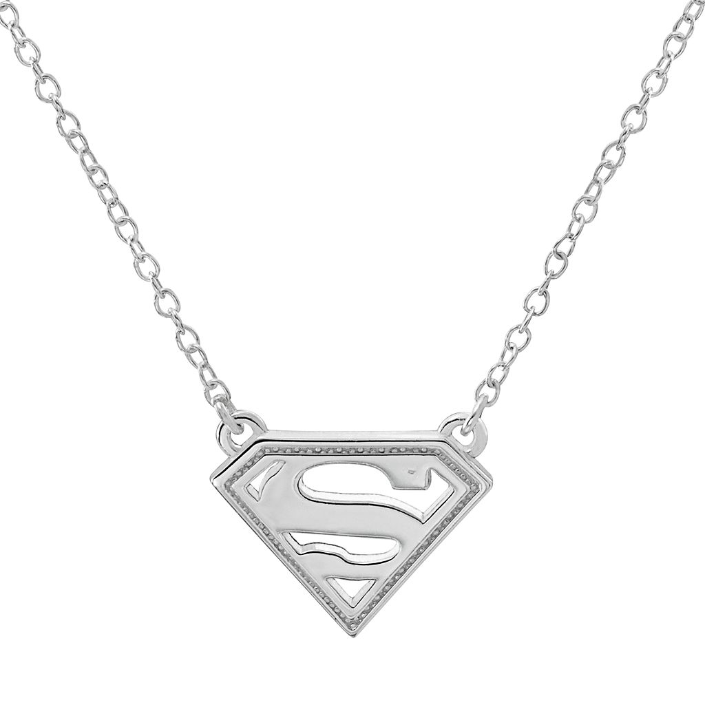 DC Comics Sterling Silver Superman Necklace