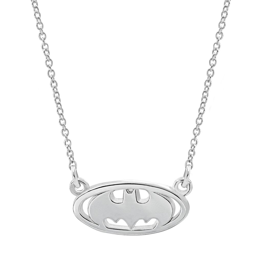 DC Comics Sterling Silver Batman Necklace