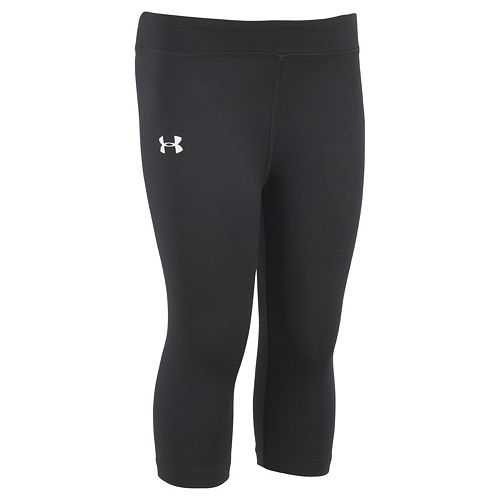 Girls 4-6x Under Armour Black Capri Leggings