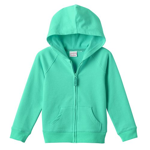 5fe014ad9c Toddler Girl Jumping Beans® Solid Zip-Front Hoodie
