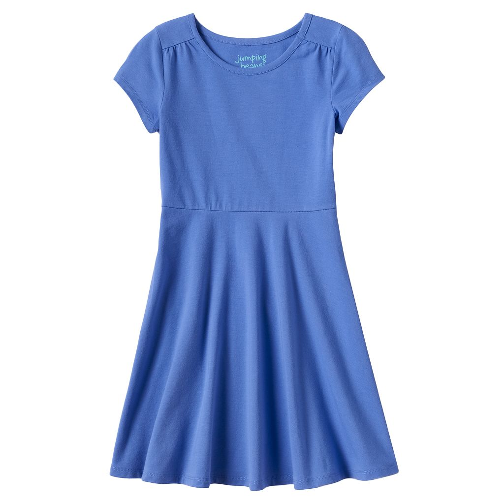 Girls 4-10 Jumping Beans® Solid Skater Dress